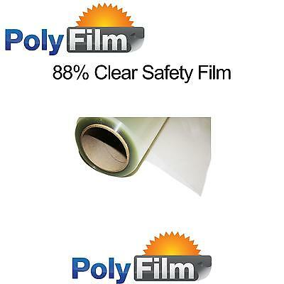 Safety Window Glass Film 88% Clear Security 76cm x 10m Shatter Proof AntiScratch