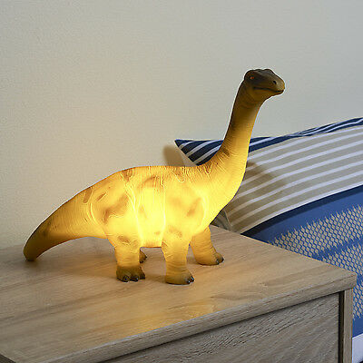 NEW 36cm LED BRACHIOSAURUS TABLE LAMP NIGHT LIGHT KIDS BOYS BEDROOM DINOSAUR