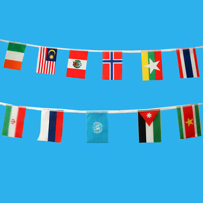 100X Countries String Flag 25M International World 82ft Bar Party Banner Bunting