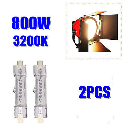 800W Halogen Tungsten Lamp Photo Studio Lighting Continuous Light Red Head Bulb