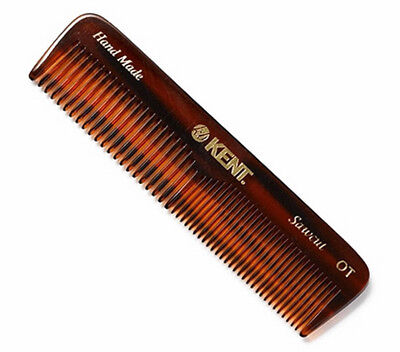 Kent OT 113mm Small Mens Coarse Fine Toothed Pocket Hair Comb