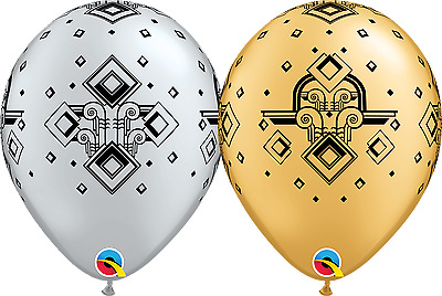Party Supplies Birthday Gatsby 1920's Gangster Hollywood Art Deco Balloons Pk 10