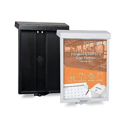 Source One Outdoor Realtor Style Brochure Holder BLACK