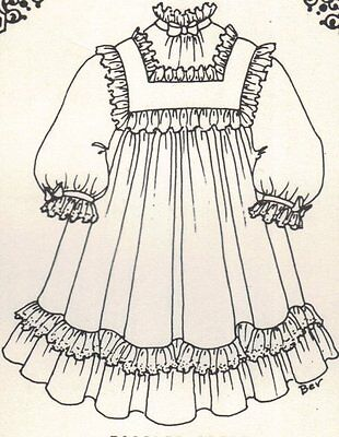 "Period DOLL DRESS 21- 22"" PATTERN Victorian  German  French"