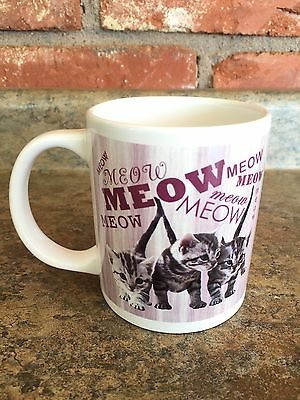 """Light Activated """"Talking"""" Kitty Cat Kitten Meow Coffee Mug Cup CUTE"""
