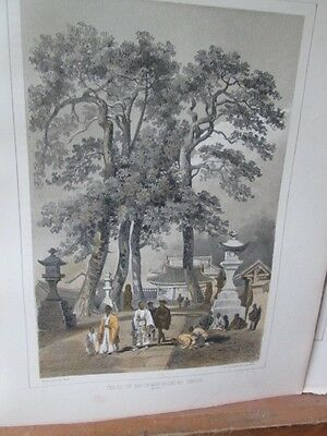 Vintage Print,TEMPLE SIMADA,Perry Expedition Japan,1856