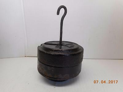Vintage  Weights & Holder . With Two Weights 2 Lb