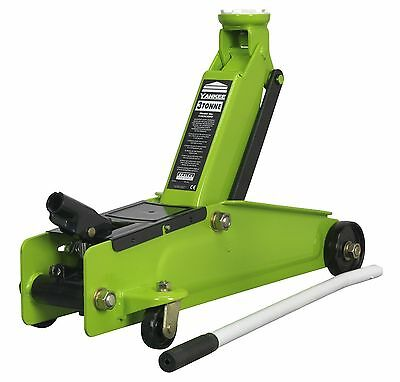Sealey 3 Ton Heavy Duty Hydraulic Lift Lifting Trolley Jack Van Car 1153CXHV