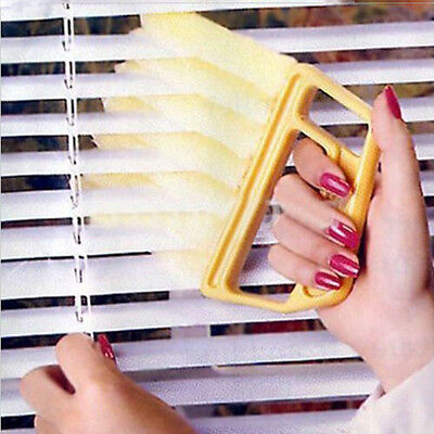 Microfibre Windows Air Conditioner Venetian Blind Brush Duster Dirt Nice Cleaner