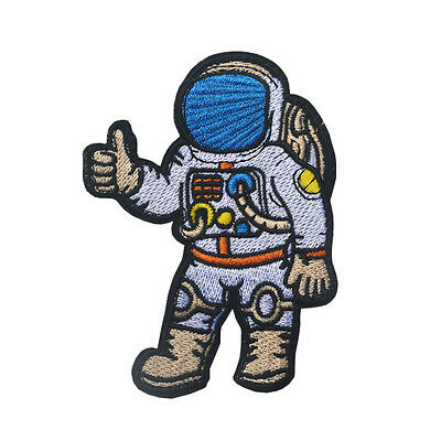 Astronaut Sew Iron On Patch Spaceman Embroidered Craft Pilot Badge Emblem Logo