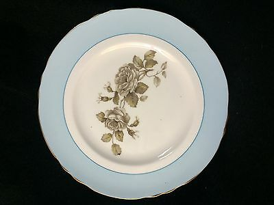 Vintage Staffordshire fine bone china sky blue & flower Gold Trim