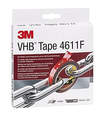 3 M VHB 4611F Double-Sided High-Performance Adhesive Tape 19 MM x 3 M Grey 46...