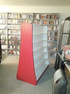 (4) Video Store Center Isle Fixtures With Shelves  (Used)