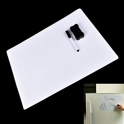 42X30cm Magnetic Fridge WritingBoard Removable Whiteboard Message Board/Memo Pad