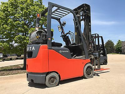 2014 Toyota LPG/Propane Forklift-Low Hours-WE WILL SHIP! Lifts 18 feet-Save $$!!