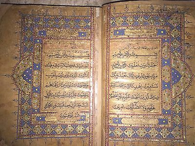 Antique Manuscript  NAKSH SCRIPT  Hand Written Quran More than 300 Years Old