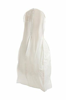 X Large White Bridal Wedding Gown Dress Garment Bag. storage. cover. dustproof.