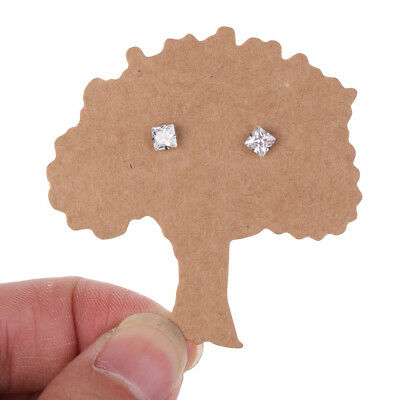 100 Pieces Kraft Paper Life Tree Earring Display Tags Cards Jewellery Holder