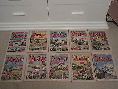 VICTOR COMICS X 10 FROM 1978,  Good condition/ WARLORD- Job Lot