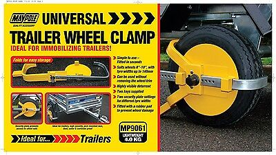 Maypole Wheel Clamp Wheelclamp Wheel Size 8-10inch 140mm Max Tyre Width