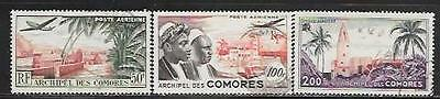 Comoros Island 1954 Comoro Village, Men And Moroni Mosque Sc # C1-C3 Used