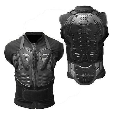 Motorcycle Body Armor Jacket Vest  Spine Chest Protection Gear S M L XL 2XL 3XL