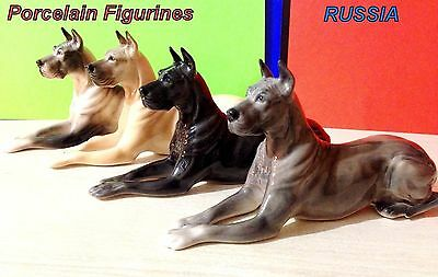 Collection Great Dane porcelain figurines Dogs Souvenirs Russia high quality