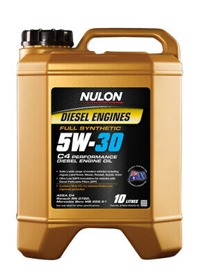 Nulon 5W30 Diesel Performance Engine Oil Full Synthetic 10L