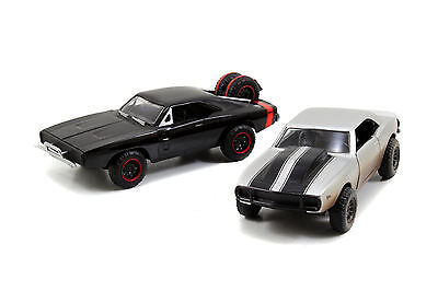 1:32 Jada 97163 Dom's Dodge Charger R/T+Roman's Chevy Camaro Fast & Furious