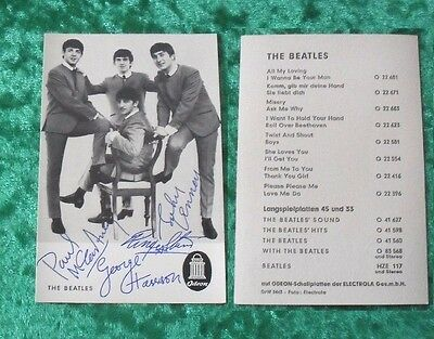 The Beatles - Original ODEON Autogrammkarte Autogramm Repro Karte Card DrW 3443