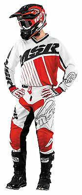 MSR Axxis White/Black/Red Jersey & Pant Combo Set Motocross M17 Off Road Gear