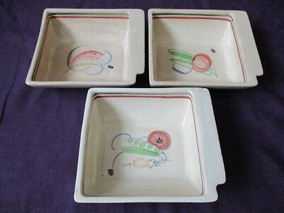 3 x Susie Cooper Crown Works Burslem - Cocktail / Hors d'oeuvres Serving Dishes