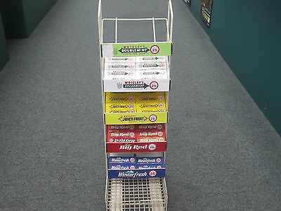 Vintage Wrigley's Gum counter top display with gum