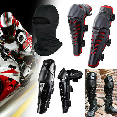 1 Pair Adults Knee Protector Guard Pad Shin Armor fit Bike Motorcycle Motocross