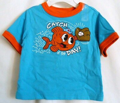Boys 6-9 Month Blue Catch Of The Day Baseball Shirt Nwt - The Children's Place