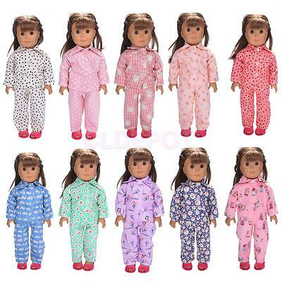 Dolls Outfit Clothes Pajamas Sleepwear for 18'' Our Generation Ameican Girl Doll
