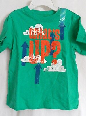 Boys 12-18 Month Funny Green What's Up Arrow Shirt Nwt The Children's Place