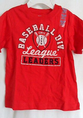 Boys 12-18 Month Red Baseball Div League Leaders Shirt Nwt The Children's Place