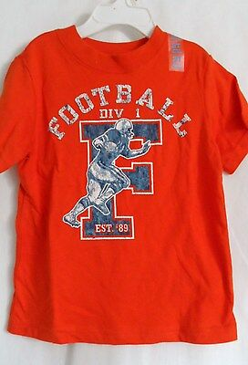 Boys 2T Orange Distressed Appearing Football Div Shirt Nwt The Children's Place