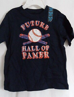 Boys 12-18 Month Blue Future Hall Fame Baseball Shirt Nwt The Children's Place