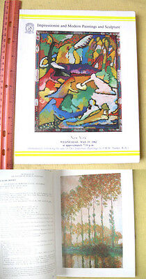 AUCTION CATALOG CHRISTIE'S N.Y.,IMPRESSIONIST,MODERN PAINTINGS,May 19,1982,Illst