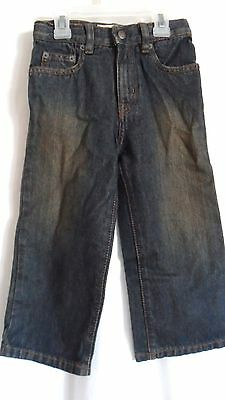 Boys 3T Dark Blue Classic Mud Wash Adjust Waist Jeans Nwt ~ The Children's Place