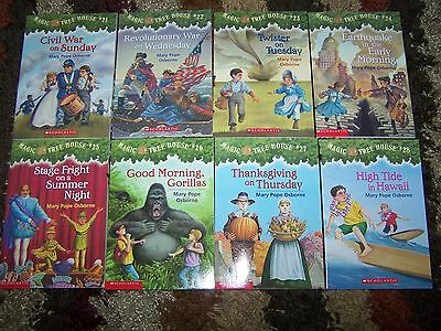 8 NEW Magic Tree House #21-28 Accelerated Reader Books Set Lot Mary Pope Osborne