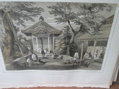Vintage Print,MARINERE TEMPLE,Perry Expedition Japan,1856