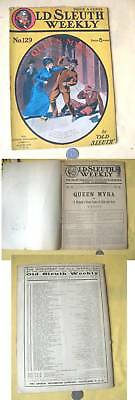 Penny Book,OLD SLEUTH WEEKLY,#129,Queen Myra,1910