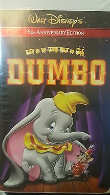 RARE! Walt Disney's Dumbo (VHS, 2001, 60th Anniversary Edition) used. Tested