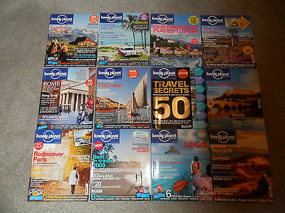 12 LONELY PLANET Magazines From 2008-2009 (Issues 1-12)