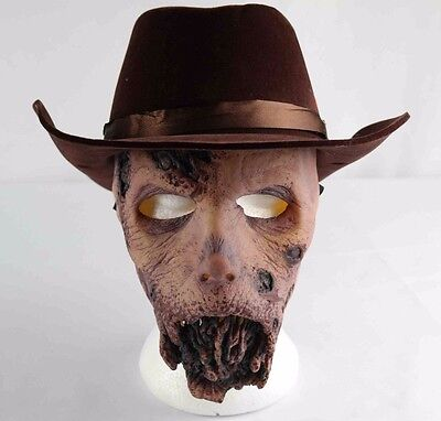 The Walking Dead Mask and Velvet Costume Cowboy Hat Halloween Costume