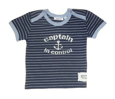 Hannah Baby T-Shirt midnight blue striped for boys sz. 68