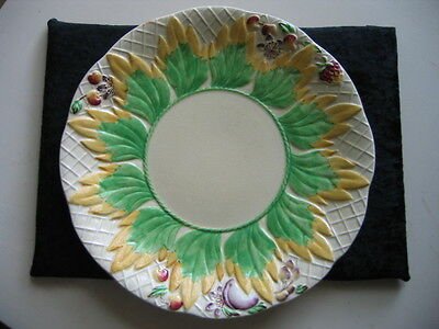 Vintage Clarice Cliff Plate Newport Pottery Lovely Design In Relief
